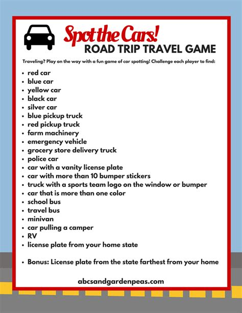 printable car games for adults 25 free printables for a super fun family road trip