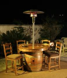 Patio Heater With Table Glen S Wine Barrel Tables Vintage Wine Barrel Furniture