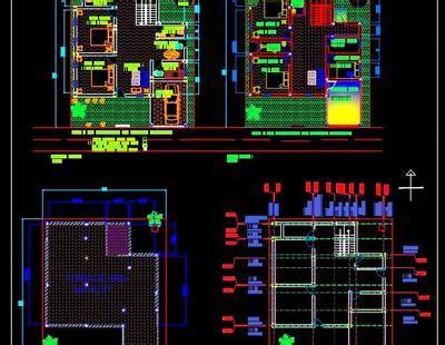 storey duplex house plan  drawing