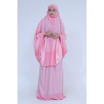 Ukhuwah Mukena Bali Naraya 1 ukhuwah mukena katun bali motif polkadot merah muda cantik