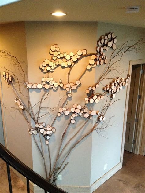 twig tree home decorating three sided wall art tree art twig art for wall decor
