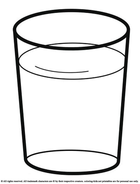 Coloring Pages Of Water by Drink A Glass Of Water Drinks Coloring Pages
