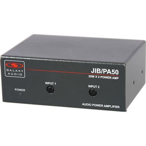 Compact Home Audio Lifier Galaxy Audio Jib Pa50 Compact Stereo Power Lifier Jib Pa50