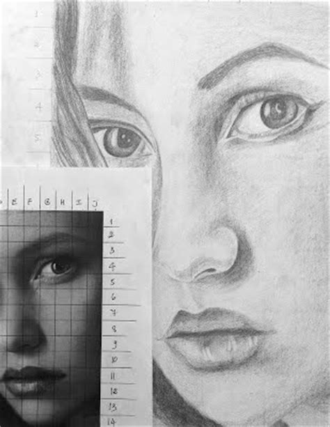 S Drawing Middle School by Grid Pencil Drawing Portraits Middle School Ms Depuma