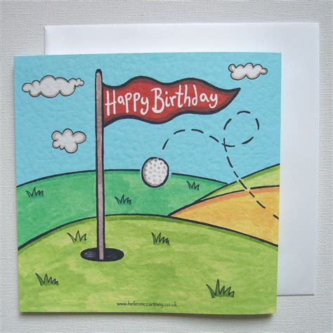 printable birthday cards golf theme personalised golf golfer birthday card wowthankyou co uk