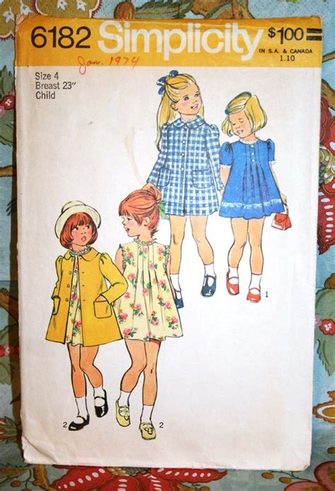 simplicity pattern company history vintage child s dress and coat sewing pattern simplicity