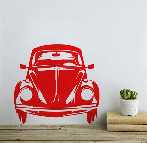 volkswagen beetle front view classic vw beetle front view vinyl wall sticker by oakdene
