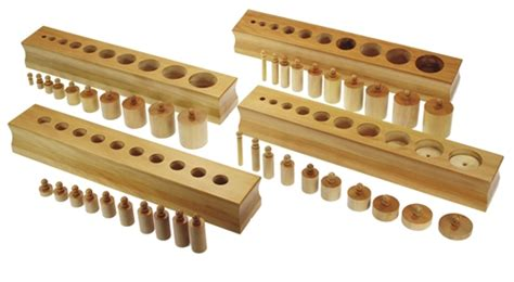 Knobbed Cylinders montessori materials knobbed cylinder blocks