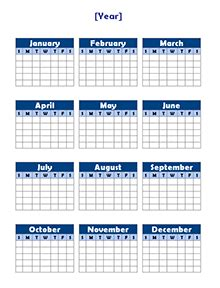 annual calendar template free yearly blank calendar template printable blank
