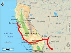 map of calif and arizona pictures to pin on