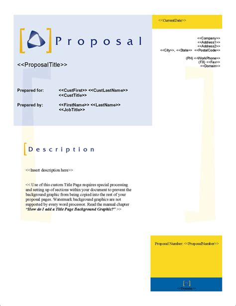 design proposal title proposal pack classic 3 software templates sles