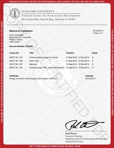 Design Certificate Stanford | stanford university energy technology innovation certificate