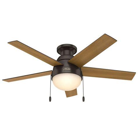 hunter 59268 anslee 46 inch 2 light ceiling fan in premier