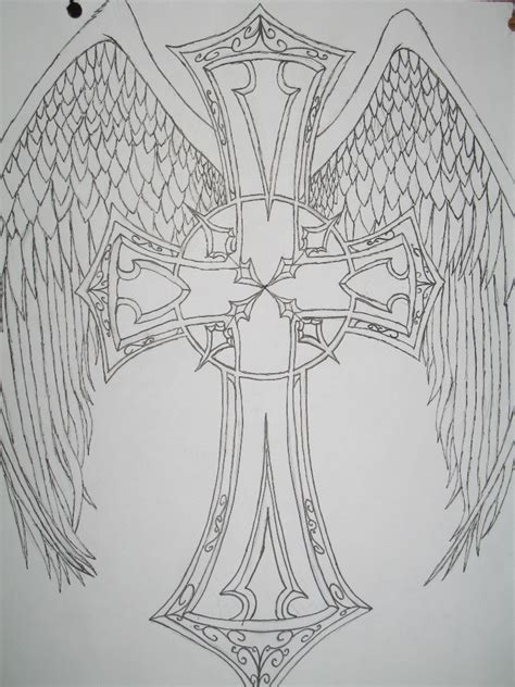 celtic cross with angel wings tattoo designs free cross with
