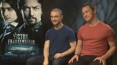 james mcavoy wanted workout victor frankenstein daniel radcliffe wanted to bathe in