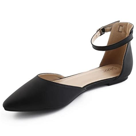 Bm Ousay sibba s faux suede pointed toe d orsay flats black 6