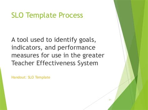 slo template slo overview power point 2014
