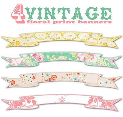 Free Printable Vintage Banner   shabby blogs vintage freebie with keren 4 vintage floral