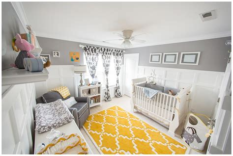 yellow and gray baby room yellow and gray nursery