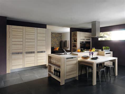 cuisine design bois meubles contemporains bois cuisine ouverte attitude