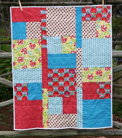 Baby Quilt Quarters by Two Banshees Quarter Baby Quilt Tutorial Uses