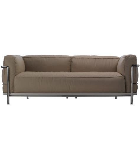 lc3 sofa lc3 outdoor 2 seater sofa cassina milia shop
