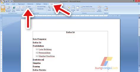 membuat daftar isi titik titik otomatis  microsoft word