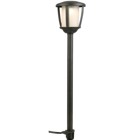 led landscape light hton bay low voltage black outdoor integrated led path