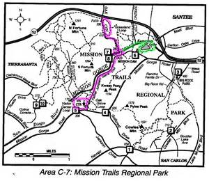 mission trail map mission trails regional park map b