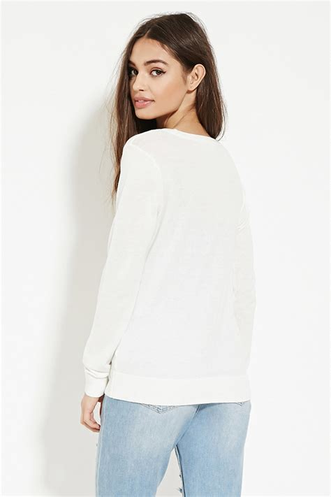 Cardigan Forever 21 Forever 21 Classic Cardigan In White Lyst