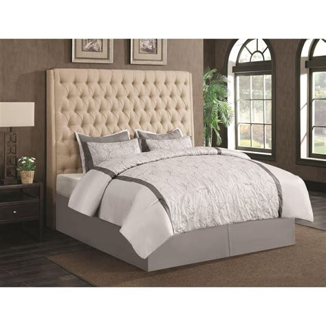 headboards for california king beds coaster upholstered beds 300722kwb1 upholstered california