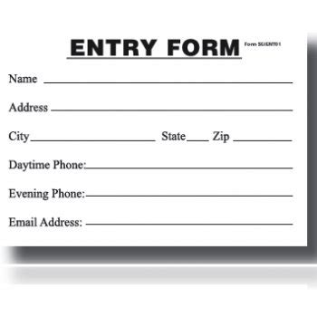 enter to win card template entry blank entry form pad my store