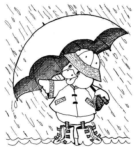 coloring page duck with umbrella mormon share duck under umbrella no words
