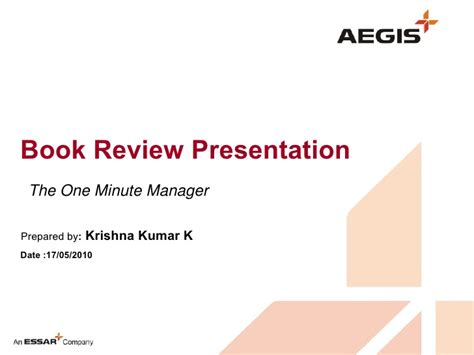 book review presentation format