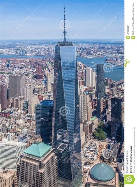 pictures of tower new york new york city freedom tower sky view stock photo image