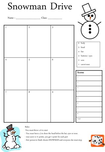 drive template snowman drive by missebg teaching resources tes