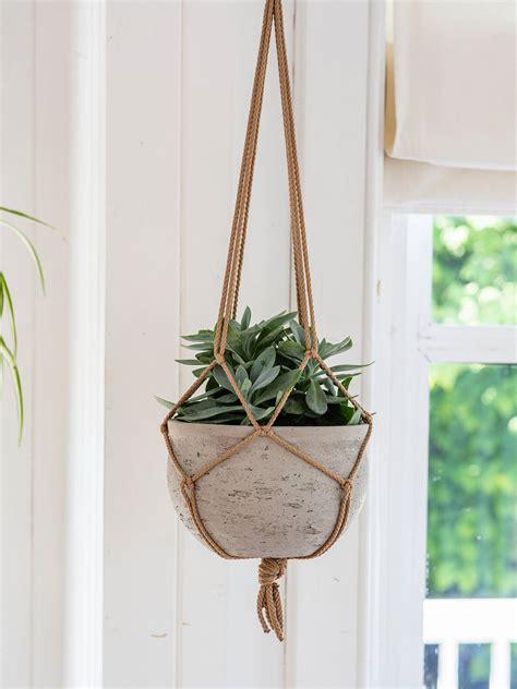 garden trading stratton hanging indoor plant pot grey