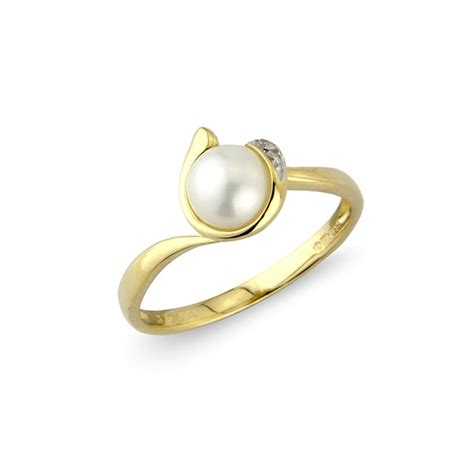 9ct gold cultured pearl ring macintyres of
