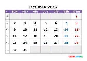 Calendario 2018 Para Editar Calendario Octubre 2017 Para Editar