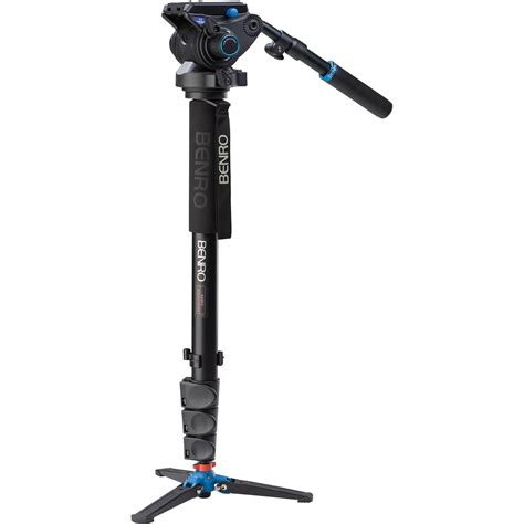 Monopod Benro benro a48fds6 series 4 aluminum monopod with 3 leg a48fds6 b h