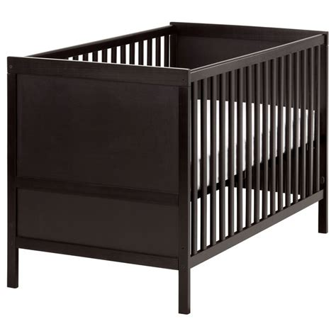 Baby Cot Ikea sundvik crib black brown sleep toddlers and cots