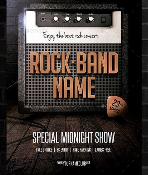 21 Band Flyer Templates Sle Templates Band Flyer Template
