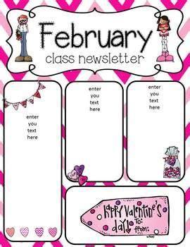 february newsletter template best 25 preschool newsletter ideas on pinterest kindergarten parent letters letters for