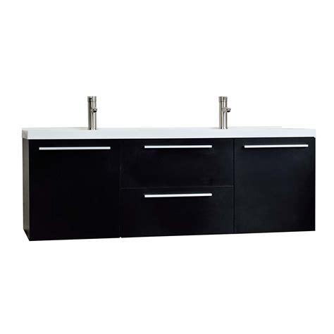 Black Modern Vanity by Buy 59 Quot Wall Mounted Modern Vanity In Black Tn