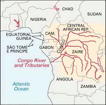 congo river map congo river location encyclopedia children s homework help dictionary