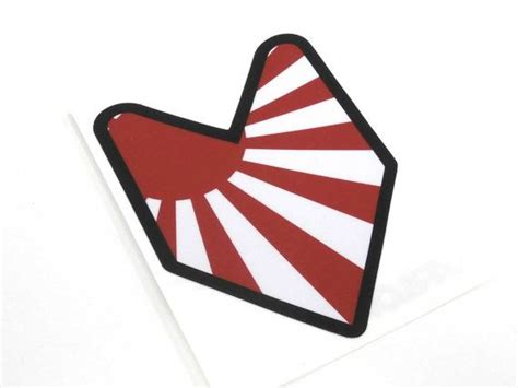 Cutting Sticker Jdm Flag rising sun wakaba driver badge sticker decal stickerbomb japan japaneese flag jdm drift rally