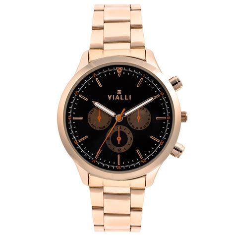 vialli mens gold metal cheap mens watches