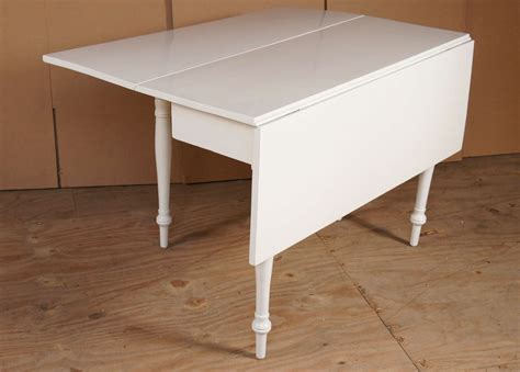 White Drop Leaf Table White Drop Leaf Table At 1stdibs