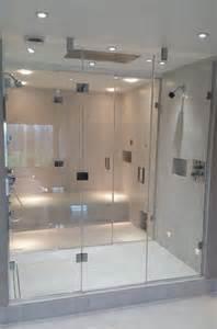Made To Measure Shower Door Installation Of Two Xenon 05 Inline Panel Door Inline Panel Made To Measure Frameless
