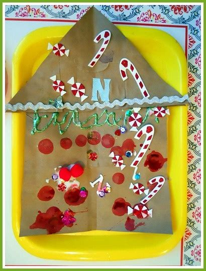 Paper Gingerbread House Craft - 17 best images about gingerbread on